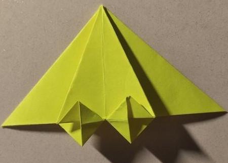 三角书签的折法图解 手工折纸-第1张