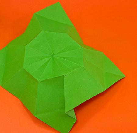 降落伞折纸方法图片大全 手工折纸-第11张