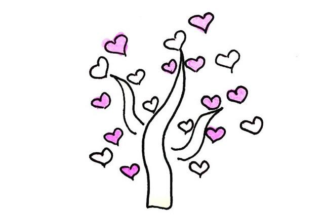 创意树木简笔画图画大全 植物-第4张