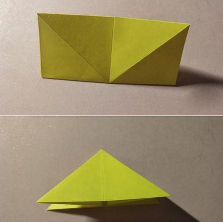 三角书签的折法图解 手工折纸-第3张