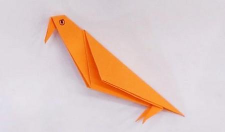 小鸟折纸步骤图解法 手工折纸-第1张