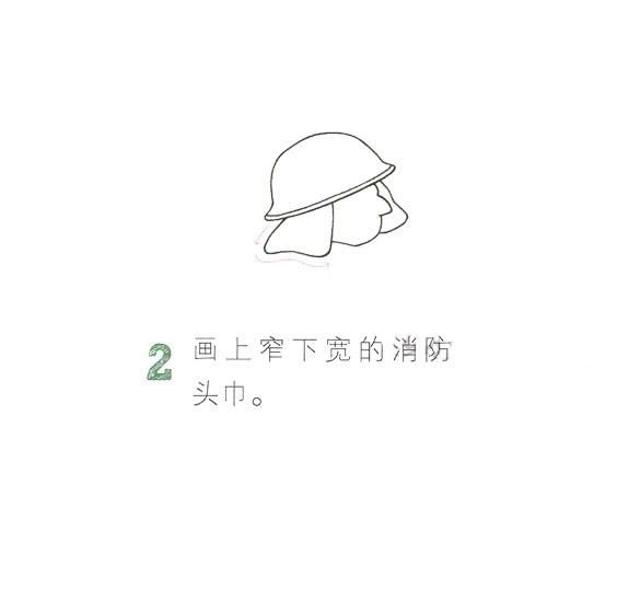 儿童简笔画消防员画法教程 中级简笔画教程-第3张