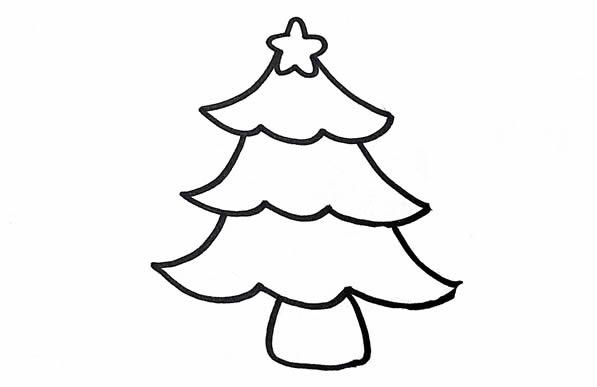 圣诞树简笔画,儿童简笔画图片 中级简笔画教程-第3张