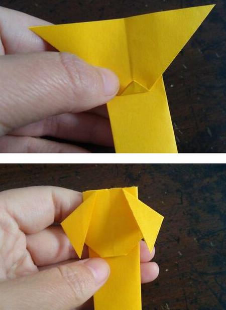 小狗指套怎么折 手工折纸-第7张