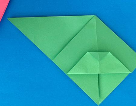 哈巴狗折纸步骤图解 手工折纸-第7张