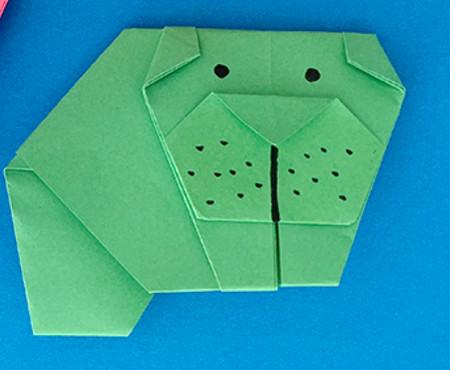 哈巴狗折纸步骤图解 手工折纸-第1张