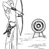 8张弓箭手简笔画黑白线稿图片