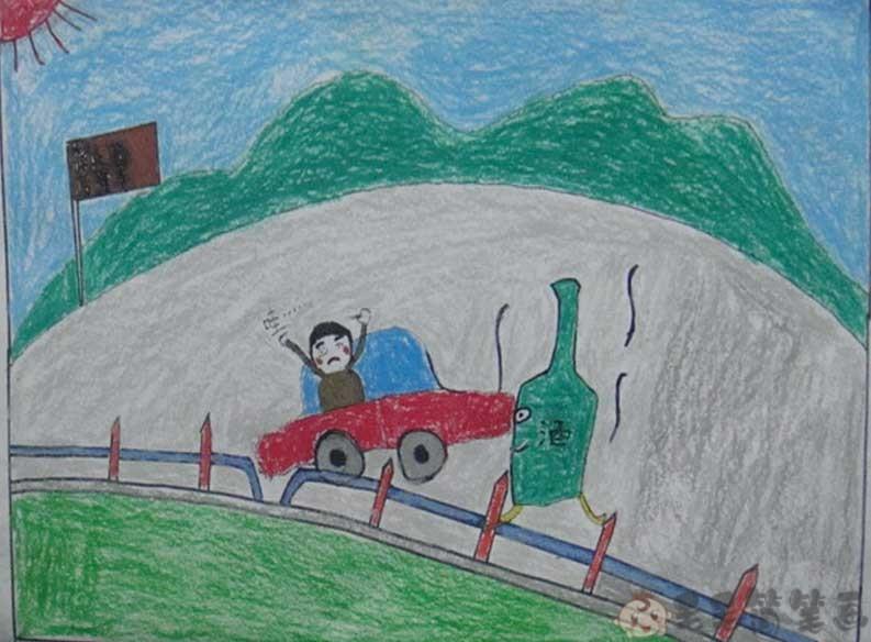 交通安全儿童宣传画
