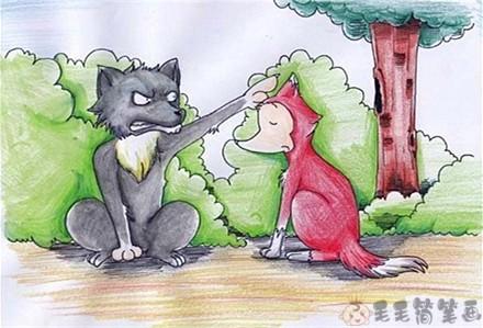 格林童话故事《母狼高司普和狐狸》 格林童话-第1张