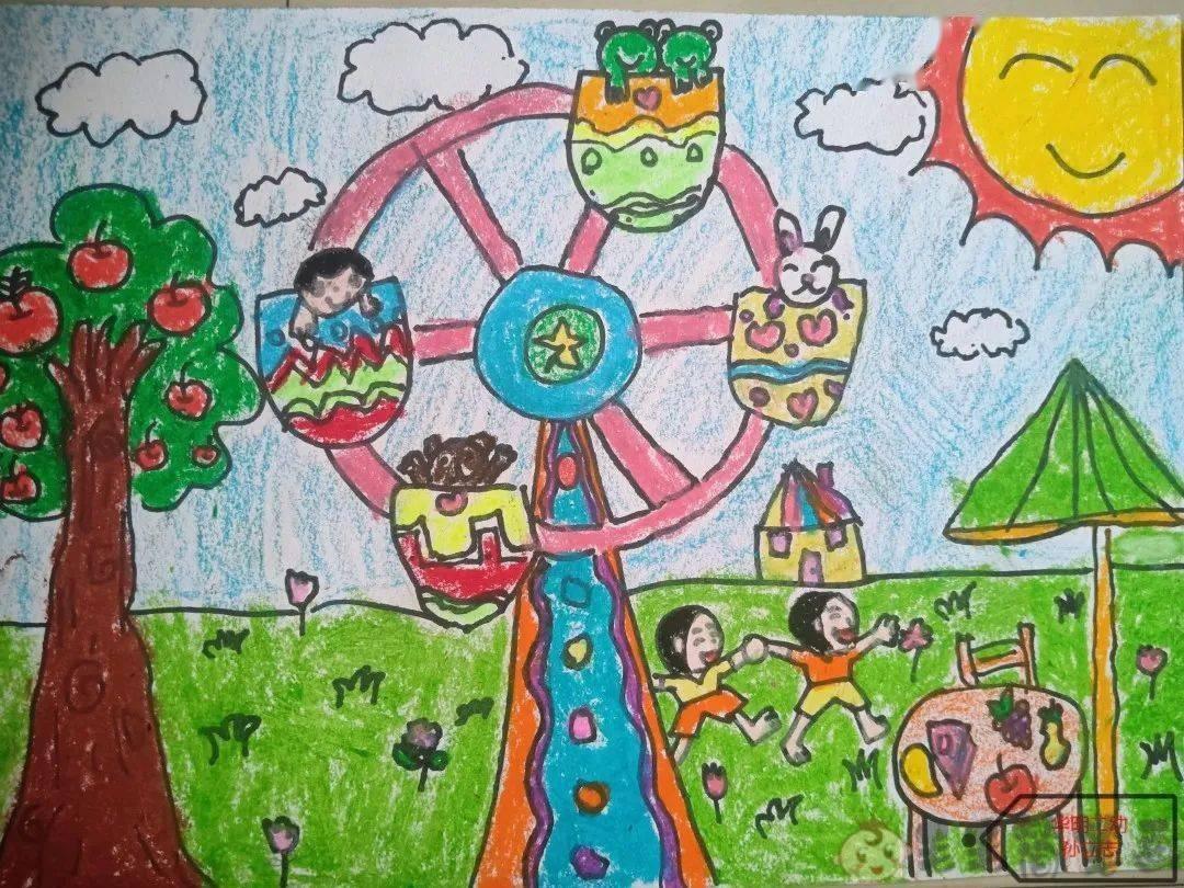 暑假生活少儿绘画作品图片