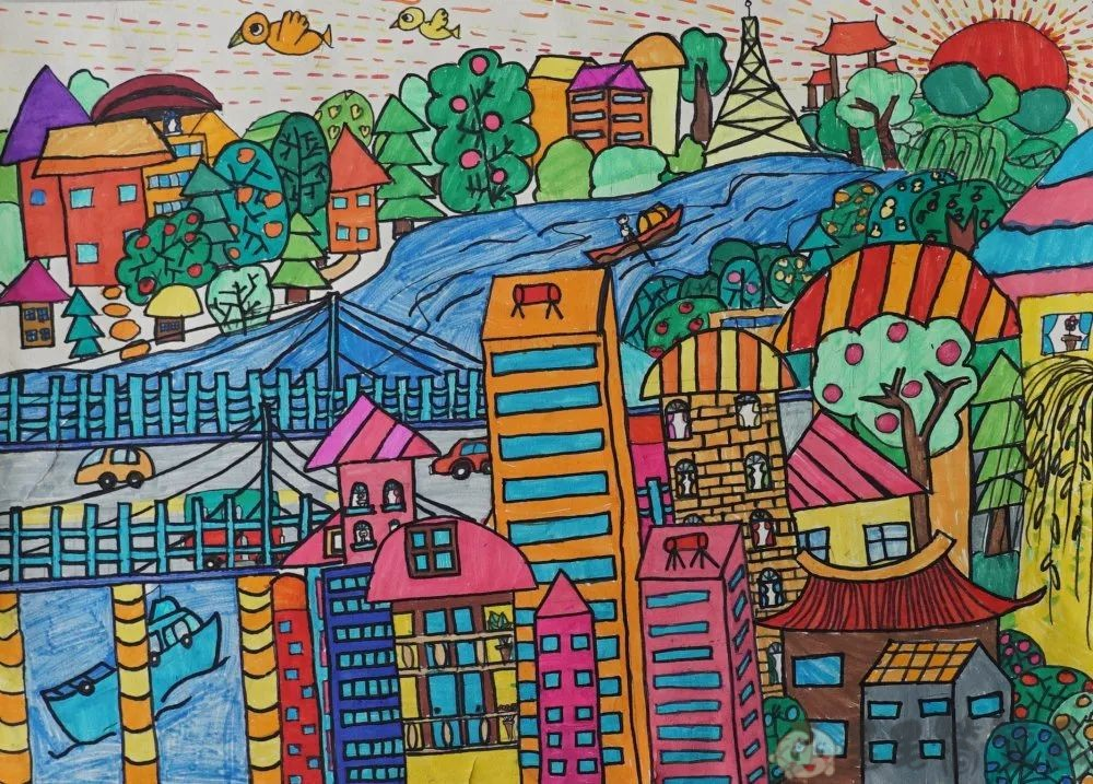 童真里的色彩儿童画
