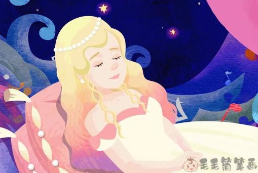 童话故事大全《豌豆上的公主》 国外童话故事-第1张