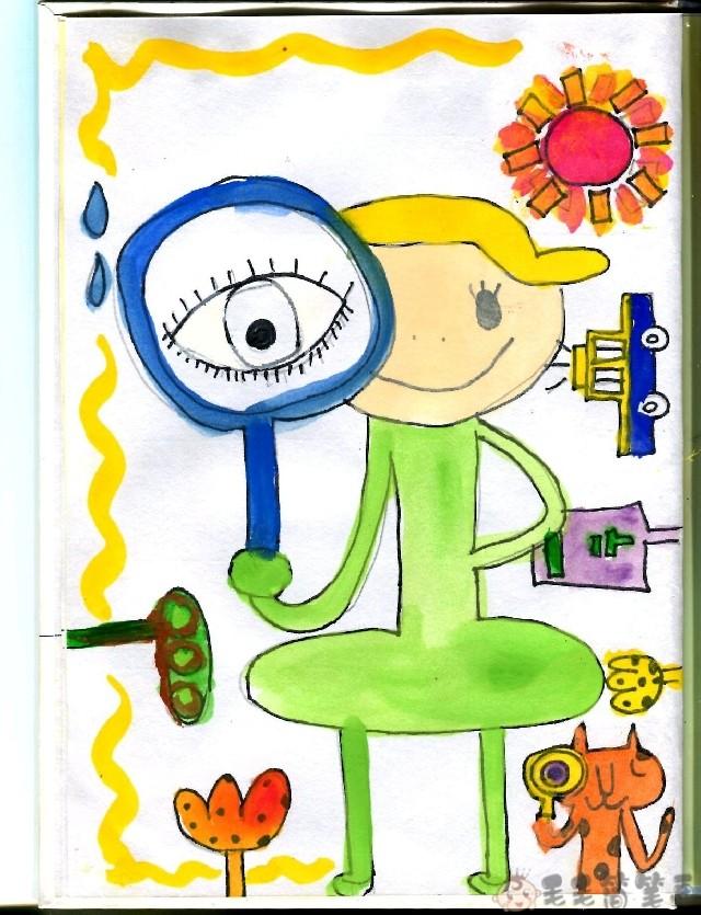 健康视力主题儿童画