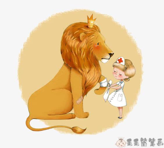 格林童话故事《少女和狮子》 育儿-第1张