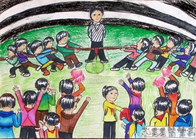 儿童图画运动会