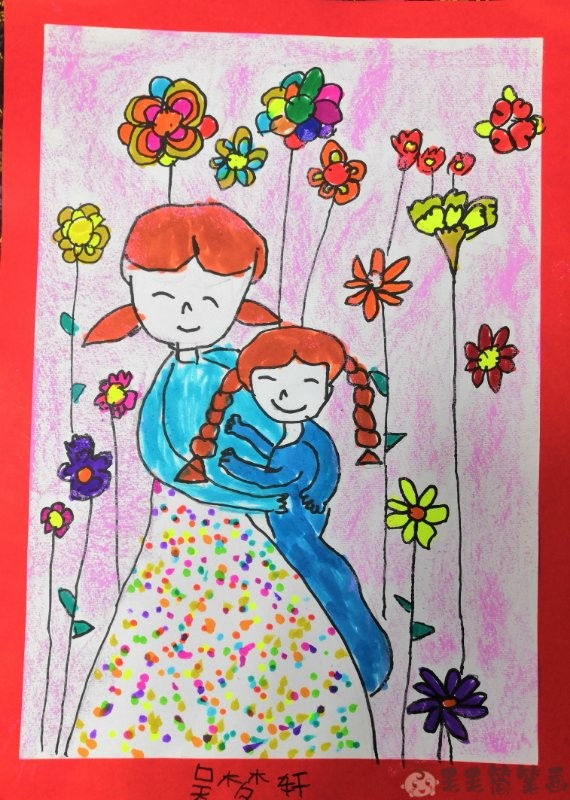 母亲节简单的画