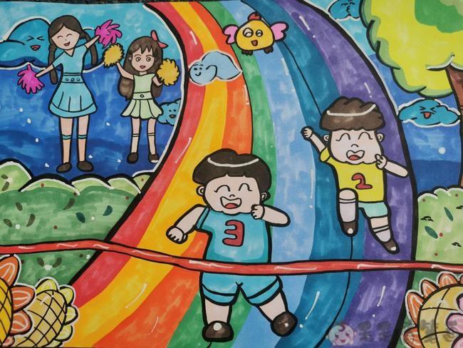 运动绘画少儿儿童图画