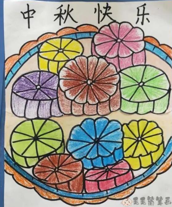 中秋月饼儿童画