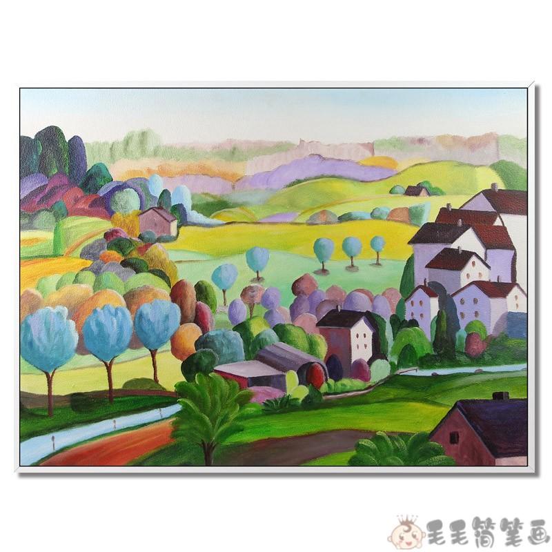 儿童油画棒作品图片