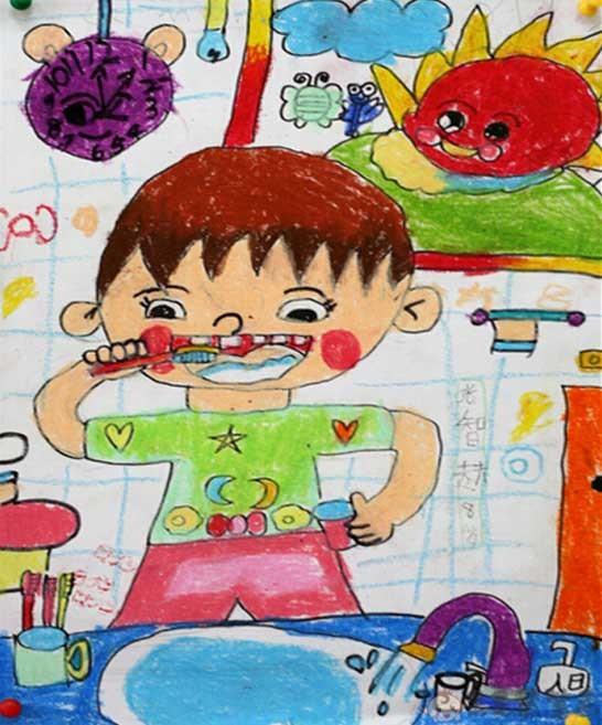 爱牙护牙儿童画