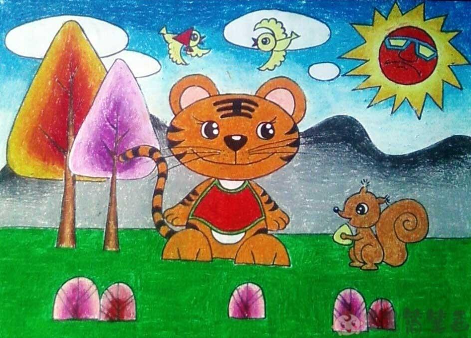 卡通动物儿童画大全