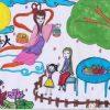 中秋节儿童画画图像