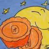 月饼儿童画,月饼简笔画