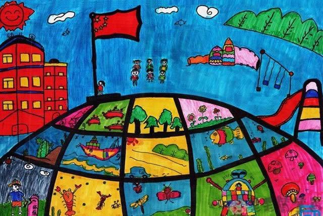 爱国奉献主题儿童画