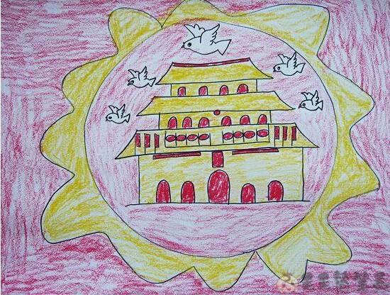 十一国庆幼儿画画简单好看