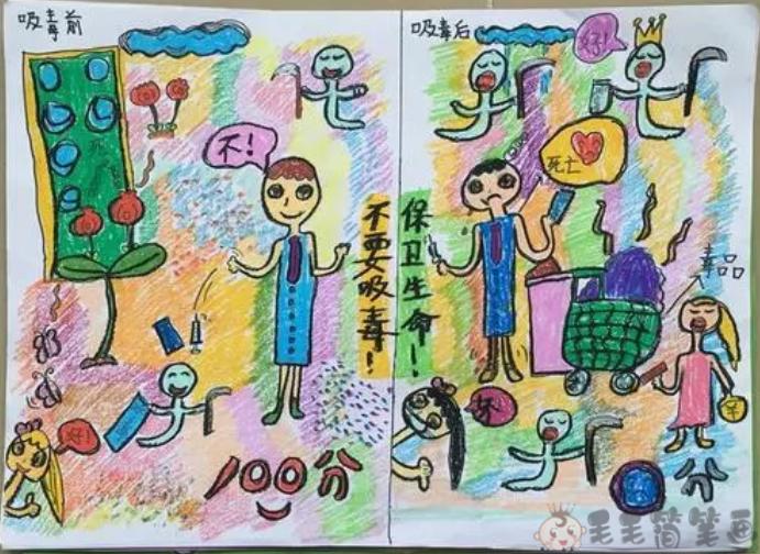 健康生活主题儿童画