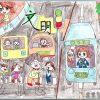 校园文明儿童画图片参考