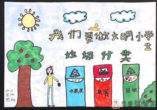 校园文明儿童画图片