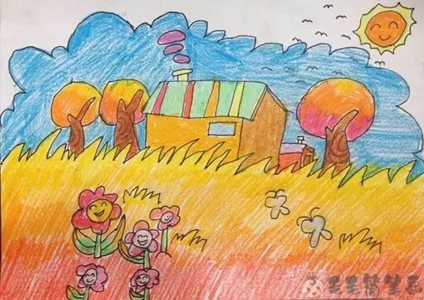 秋天儿童画范画