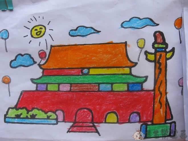 天安门儿童画