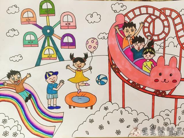 儿童8到12岁美术画简单