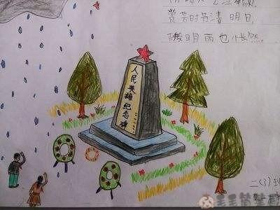 勿忘先烈儿童画图片 绘画-第3张