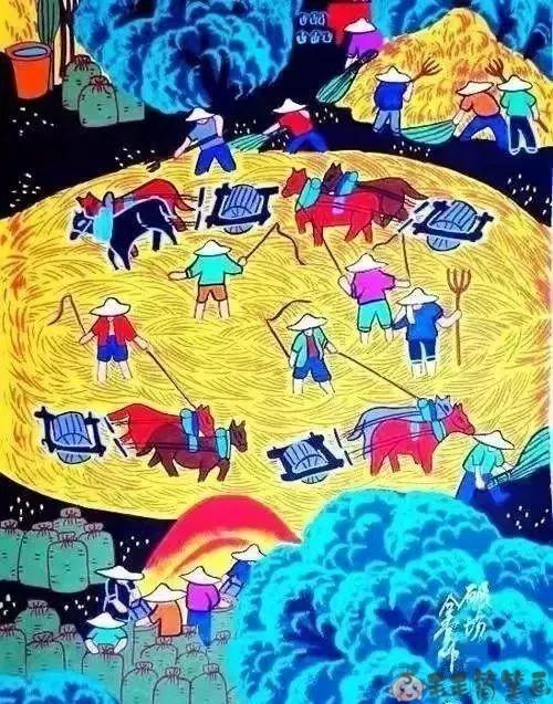 农田儿童画