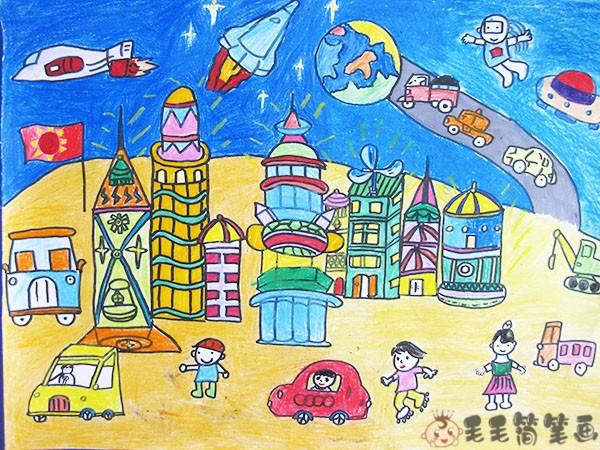 未来主题儿童画