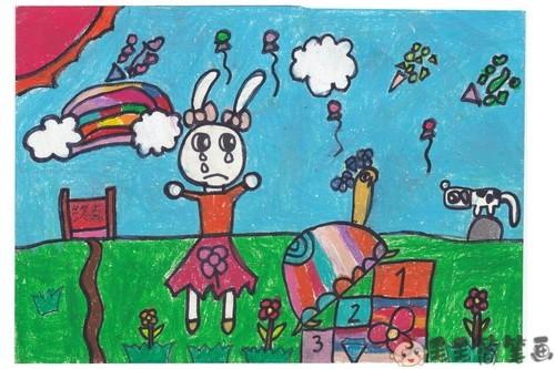 龟兔赛跑儿童画