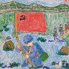 长征儿童画,红色故事儿童画