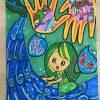 绿色环保画,环保主题儿童画