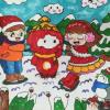 筑梦冰雪冬奥会的绘画作品